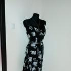 NOWA zmysłowa czarna srebrna sukienka XL