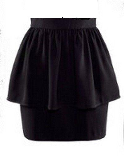 Spódniczka z baskinką New Look mała czarna