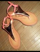 Sandały japonki neonowe...