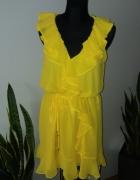 Sukienka falbanki kopertowa...