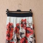 Spódnica spódniczka na gumce gumie maki kwiaty kwiatki rozkloszowana