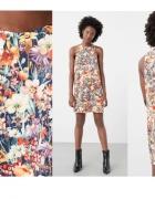 MANGO luźna sukienka w kwiaty M...