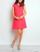 Różowa trapezowa luźna sukienka amarantowa neonowa Missguided