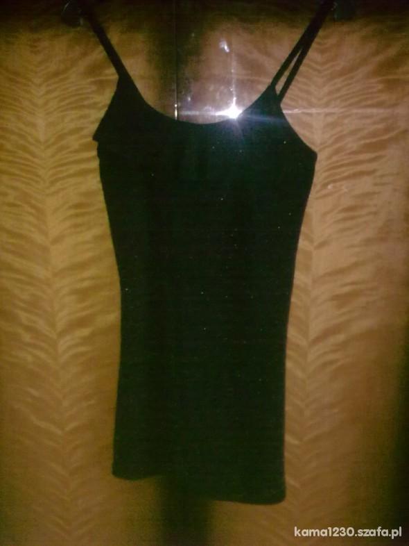 Tuniki czarna tunika na ramiączka