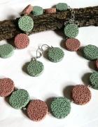 Lawa w pastelowych kolorach zestaw biżuterii...