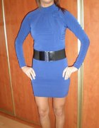 sukienko tunika kobaltowa...