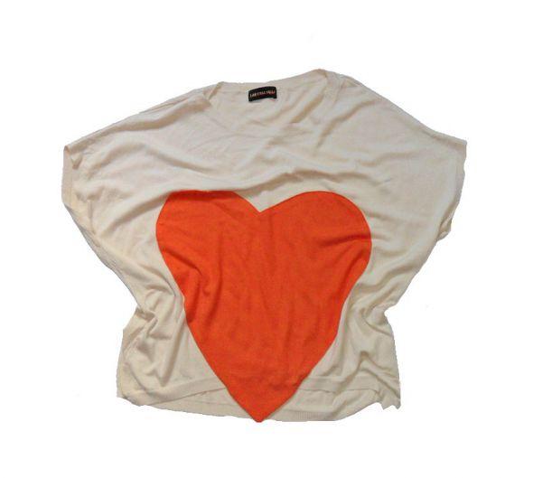 Bluzki Nietoperz bluzka z sercem 38