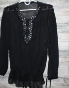 Czarna koszula mgiełka zdobienia Tally Weijl...