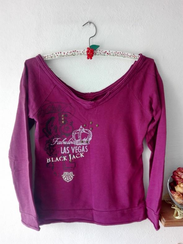 Fioletowa bluza z ćwiekami House S