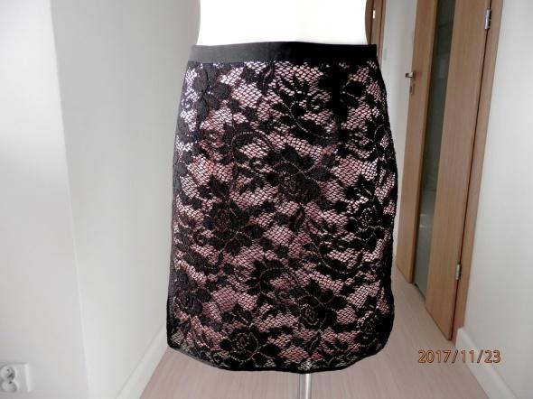 Spódnice Spódnica Koronkowa Ołówkowa Czarna Imprezowa Forever 21