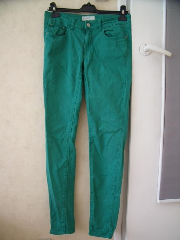 Spodnie Zielone jeansy skinny