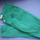 Zielone jeansy skinny