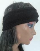 opaska handmade na głowę włosy uszy czapka czarna...