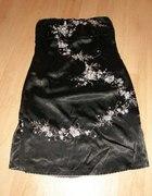 Angielska satynowa wieczorowa sukienka L