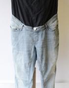 Spodnie Lindex Mama Dzinsowe XXL 44 Przetarcia Ciążowe Mom...