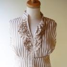 Koszula Paski Elegancka Pracy Zara L 40 Żabot Wizytowa