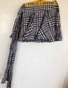 Spódnica mini kratka czarno biała Xs S 34 36 guzik...