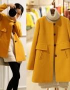 Płaszcz damski żółty pomarańczowy XS S...