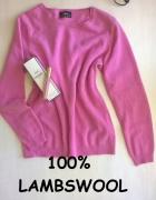 Sweterek wełna owcza XS S M...