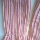 Pudrowa plisowana bluzka S M