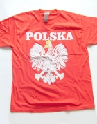 Polska i orzełek koszulka orzeł koszulka czerwona...