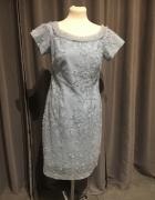 Sukienka błękitna koronkowa r38...