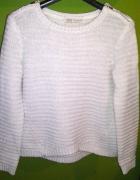 Bershka sweter srebrna nitka