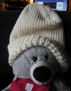 Terranowa gruba czapka zimowa ecru...