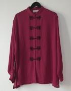 Ann Harvey amarantowa koszula zdobiona r 48 50