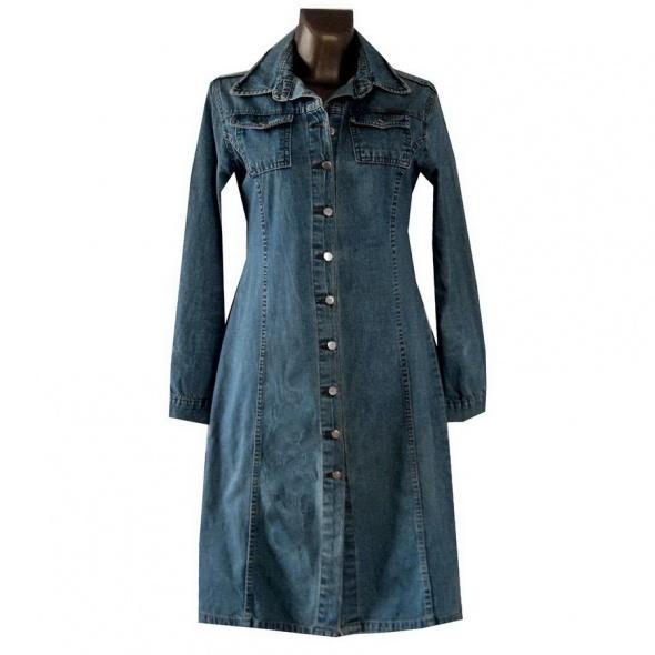 Niebieski Płaszcz Dżinsowy 40 L...