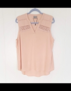 Nowa bluzka Vero Moda XL 42 top koszulka pudrowy róż brudny róż...