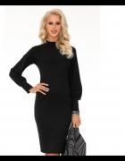 Elegancka sukienka długi rękaw M czarna...