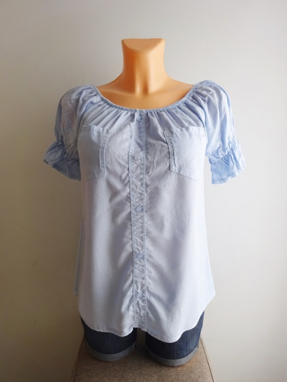 błękitna pastelowa bluzka hiszpanka carmen 38 M