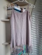 Fioletowa bluzka z frędzelkami Mohito S...
