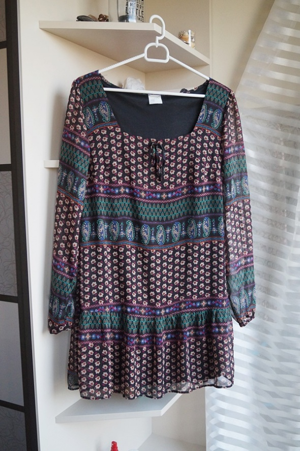 Sukienka kolorowa aztecka George M...