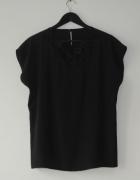 czarna elegancka bluzka top r 42 44
