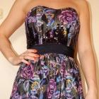 River Island XS S rozkloszowana sukienka usztywnienia