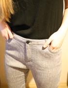 Szare lniane spodnie PER UNA...