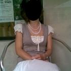 Biała letnia spódnica z aplikacją w kwiaty 34