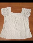 Biała bluzka z koronką 38 40...