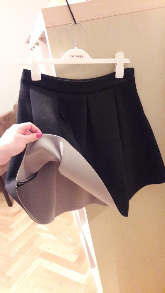 Spódnica neoprenowa czarno szara