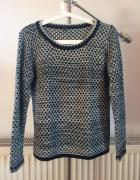 BASIC czarno biały sweter...