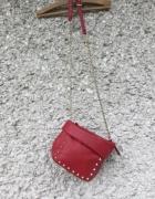 nowa torebka zara ćwieki czerwona torebka...