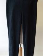 Tregginsy Spodnie Czarne H&M XS 34 Zamszowe Zamsz...