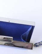 Torebka Kopertówka Niebieska Zara Basic NOWA Mała Kobalt...