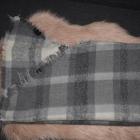 Mohito szalik w krate szary siwy