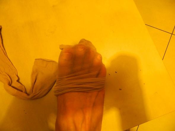 Skarpetki cieliste podkolanówki używane