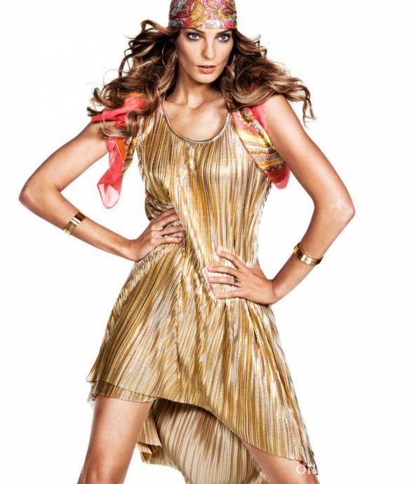 H&M złota asymetryczna sukienka XS