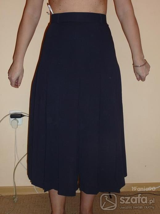Spódnice Granatowa plisowana spódnica