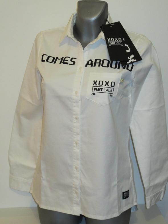 Koszule PLNY LALA biała koszula What goes around